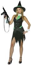 Rasta Imposta Womens Sexy Gangster Witch Costume Mafia Sorceress Pinstripe 4 10 - $22.24