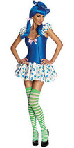 Sexy Secret Wishes Womens Blueberry Muffin Costume Dress Stockings Hat S 2 6 - $33.85