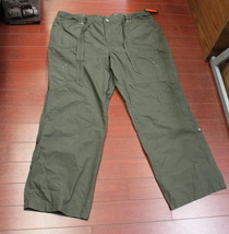 Womens Faded Glory Convertible Roll-Cuff Cargo Pants Size 22 Olive - $3.95