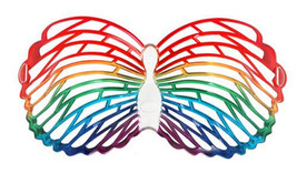 Louvre Shutter Shades BUTTERFLY GLASSES mask masquerade fairy costume ma... - $9.99