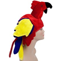 Red Yellow TROPICAL PARROT HAT pirate costume luau beach jimmy buffet pa... - $13.54