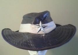 FUN WORLD Brown Faux Leather Western Cowboy Costume Sheriff Hat w/ Star Badge - $13.54