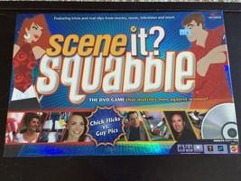 Scene It? Squabble DVD Board Game Men Against Women Girl Flicks vs Guy Pics NEW - $9.74