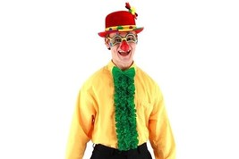 Mens Green INSTA TUX Costume Kit bowtie & ruffle shirt front formal St P... - $19.09 CAD