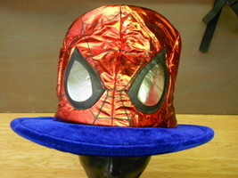 Marvel The Avengers Red Shiny Lame SPIDER-MAN Mask MAD HATTER Costume To... - $24.18