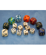 LOW STOCK: Deluxe Dice Set for Deadwood Studios, USA (Assorted colors/sizes) - $10.00
