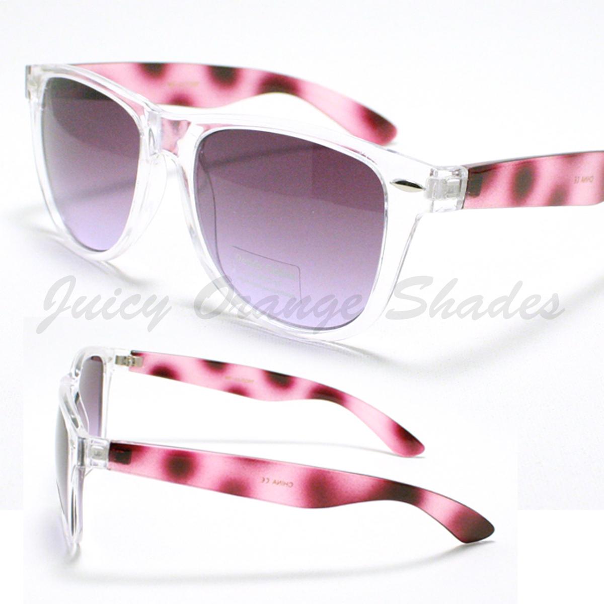 POPULAR Old School Sunglasses 2 Tone CLEAR TORT Colors 80's RETRO FUN Shades NEW
