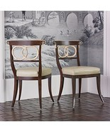 19TH Century English Design Dolphin Dining Room Chair,Brown&Ivory with W... - $1,200.00