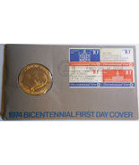 1974 American Revolution Bicentennial First Day Issue Bronze Medal - $7.50