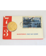 1973 Bicentennial American Revolution First Day Cover Medal - $7.50