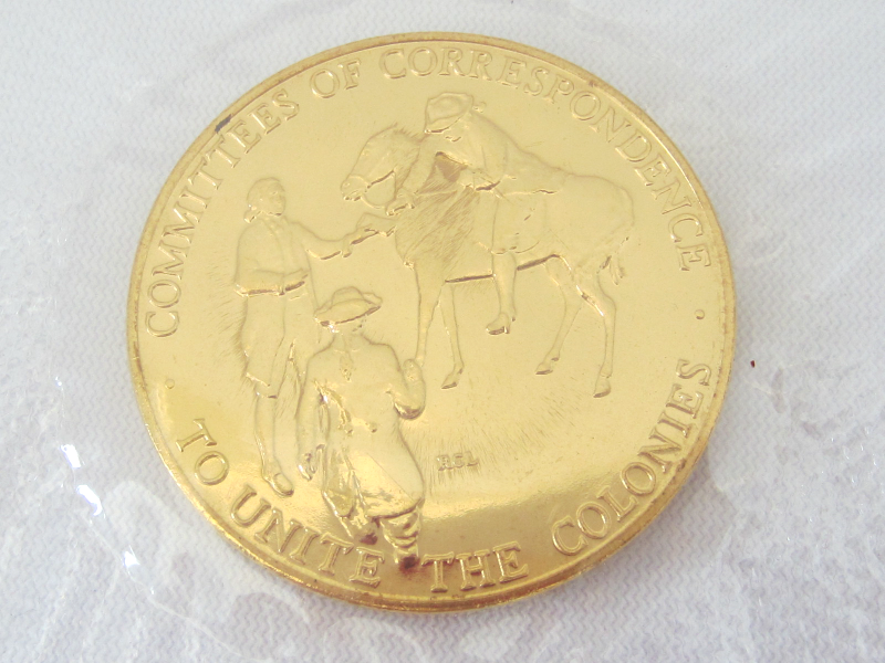 1973 Bicentennial American Revolution First Day Cover Medal