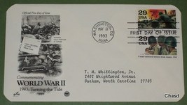First Day Cover- World War 2 Marines Hold Position at Tarawa/VMail Deliv... - $8.00