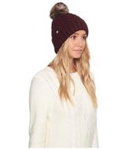 UGG Womens Textured Cuff Fur Pom Hat Port [16219] - $96.22 CAD