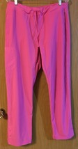 Barco One Women's 5205 Low Rise Knit Waist Cargo Track Scrub Pant Power Pink L - $13.99