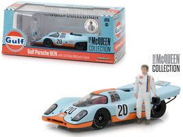 "1970 Porsche 917K \""Gulf\"" #20 with Steve McQueen Figurine \""Steve McQue... - $36.94"