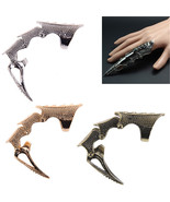 Punk Rings Rock  Scroll Joint Armor Knuckle Metal Full Finger Claw Rings... - $4.99