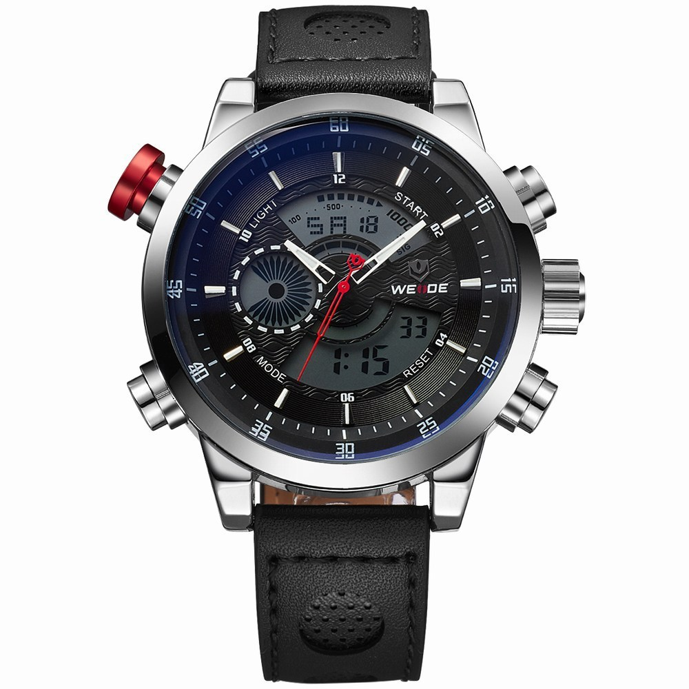 LED watch WEIDE Men's Casual Wristwatches Military Watches ...
