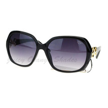 Womens Designer Eyewear Rhinestone Decor Square Frame Sunglasses - $8.95
