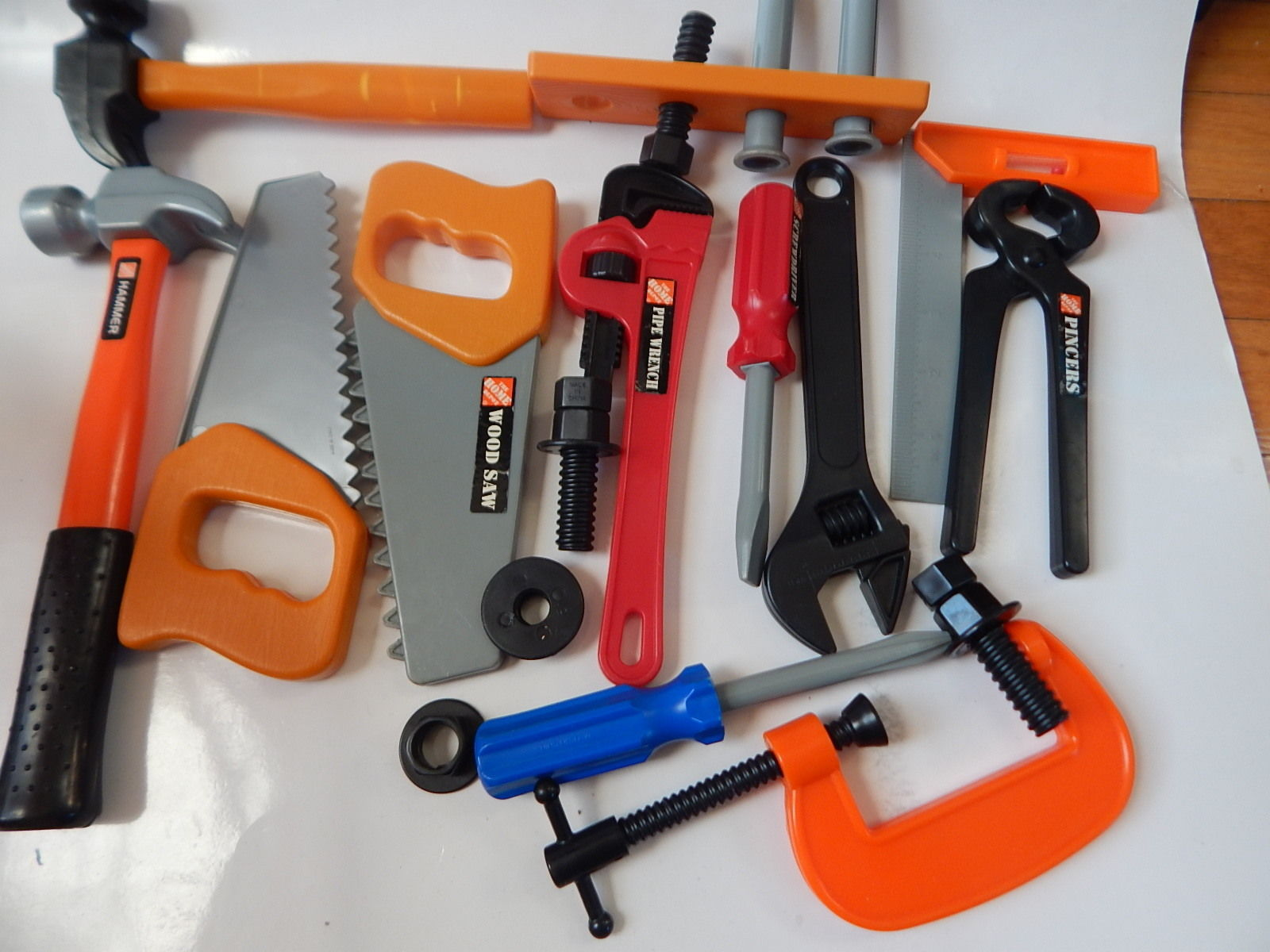 huge lot of assorted home depot pretend play tools set tool sets. Black Bedroom Furniture Sets. Home Design Ideas