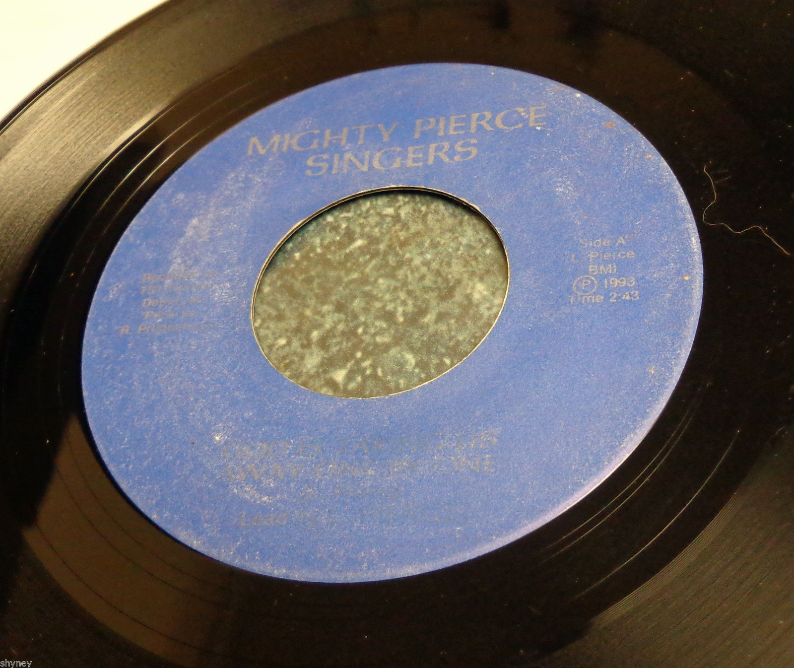 MIGHTY PIERCE SINGERS ETTA REBATE Detroit Gospel 45 GOD IS TAKING US ONE BY ONE
