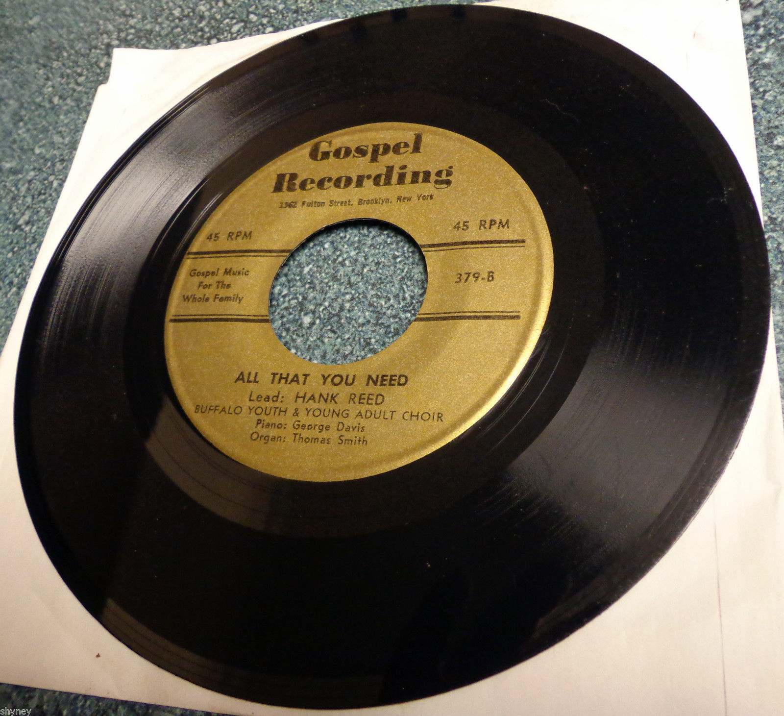BUFFALO YOUTH/YOUNG ADULT CHOIR/Hank Reed/J Dillon 45 GREAT IS THE LORD Gospel