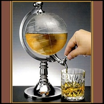 Clear World Globe Beverage Water Beer Wine Alcohol Drink Bar Pour Dispenser - $78.95