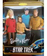 STAR TREK GIFT SET BARBIE & KEN DOLLS 1996 NIB - $124.99