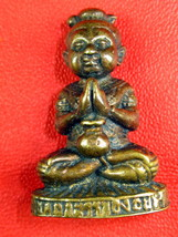 VERY RARE HOLY BLASS KUMAN-THONG LP TEH MAGIC THAI BUDDHA AMULETS LAST O... - $19.99