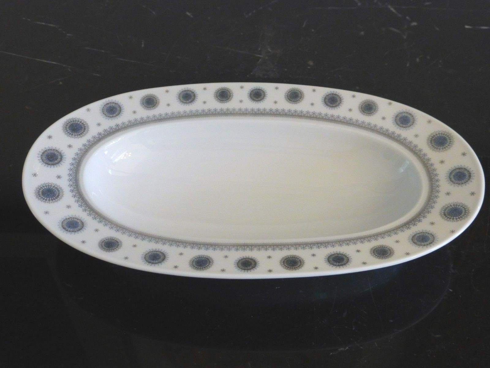 "Primary image for ROSENTHAL TAPIO WIRKKALA ICE BLOSSOM 1960S OVAL DISH BOWL 9.5"" LONG"