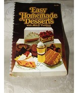 1979 Easy Homemade Desserts with JELL-O Pudding Cook Booklet 96 pages - $5.00