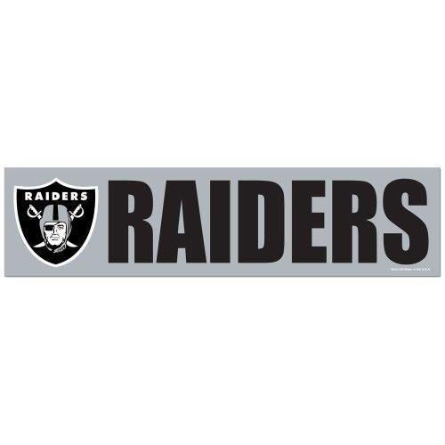 "2 OAKLAND RAIDERS CAR BUMPER STICKER DECAL 3"" X 12"" STRIP NFL FOOTBALL"