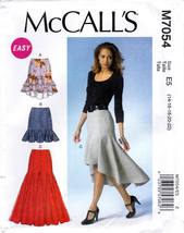 McCall's M7054 Womens Misses Skirts Sewing Pattern Sizes 14-16-18-20-22 Easy Sew - $6.45