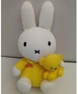 Miffy Boris Plush Bunny Rabbit Teddy Bear Plush Toy Bruna Mercis HTF Yel... - $52.19