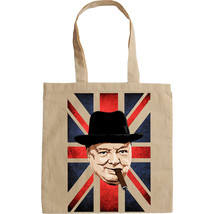 WINSTON CHURCHILL WWII - NEW AMAZING GRAPHIC HAND BAG/TOTE BAG - $24.65