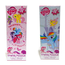 Lot of 2 Hasbro My Little Pony Tower Puzzle 24 Pieces 5 inches x 18.8  - New - $8.99