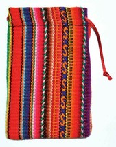 """3"""" x 4 1/2: Lined Charm Bag Perfect Colorful Knit Charm Bag Soft Lined I... - $12.40"""