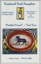 Faithful Friend Tool Tray cross stitch chart Scattered Seed Samplers  - $10.80