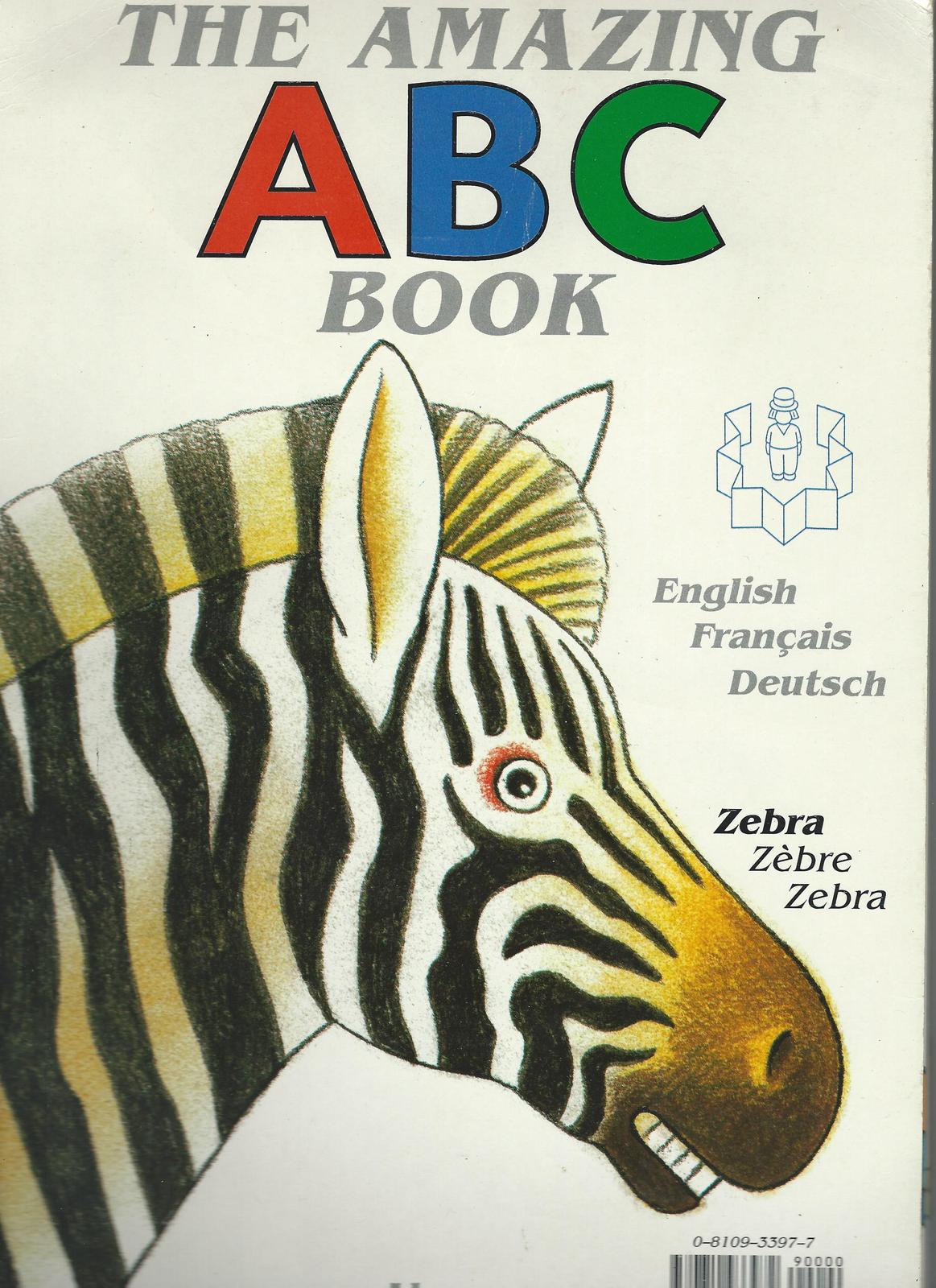 The Amazing ABC Book-Josse Goffin-English-French-German;large FOLD-OUT Board pag