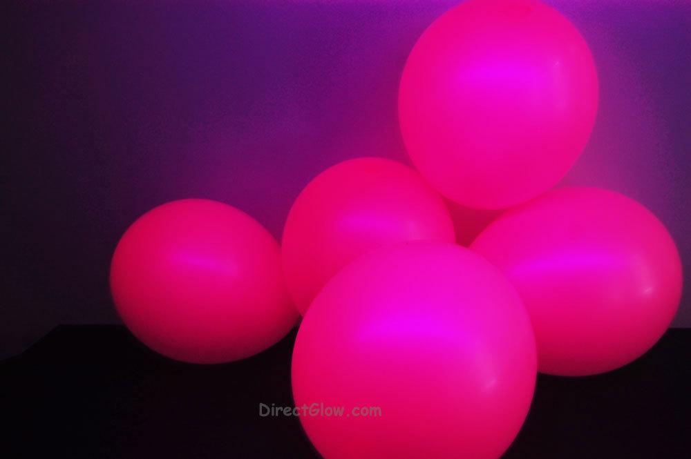 11 inch Magenta Blacklight Reactive Latex Balloons- 100