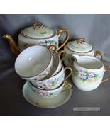 Early 29th Century  Hand Painted Stouffer Tea Set , Pot, Creame, Sugar D... - $100.00