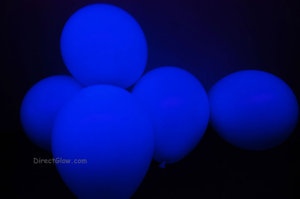 11 inch Blue Blacklight Reactive Latex Balloons- 25 pack - $8.95