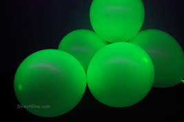 11 inch Green Blacklight Reactive Latex Balloons- 50 pack - $15.95