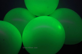 11 inch Green Blacklight Reactive Latex Balloons- 100 pack - $29.95