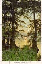Sunset On Reelfoot Lake (Mail-A-Puzzle Postcard) - $7.00