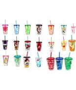 Disney Store Acrylic Tumbler Straw Pooh Minnie Mickey Tinker Cheshire Gr... - $39.55+