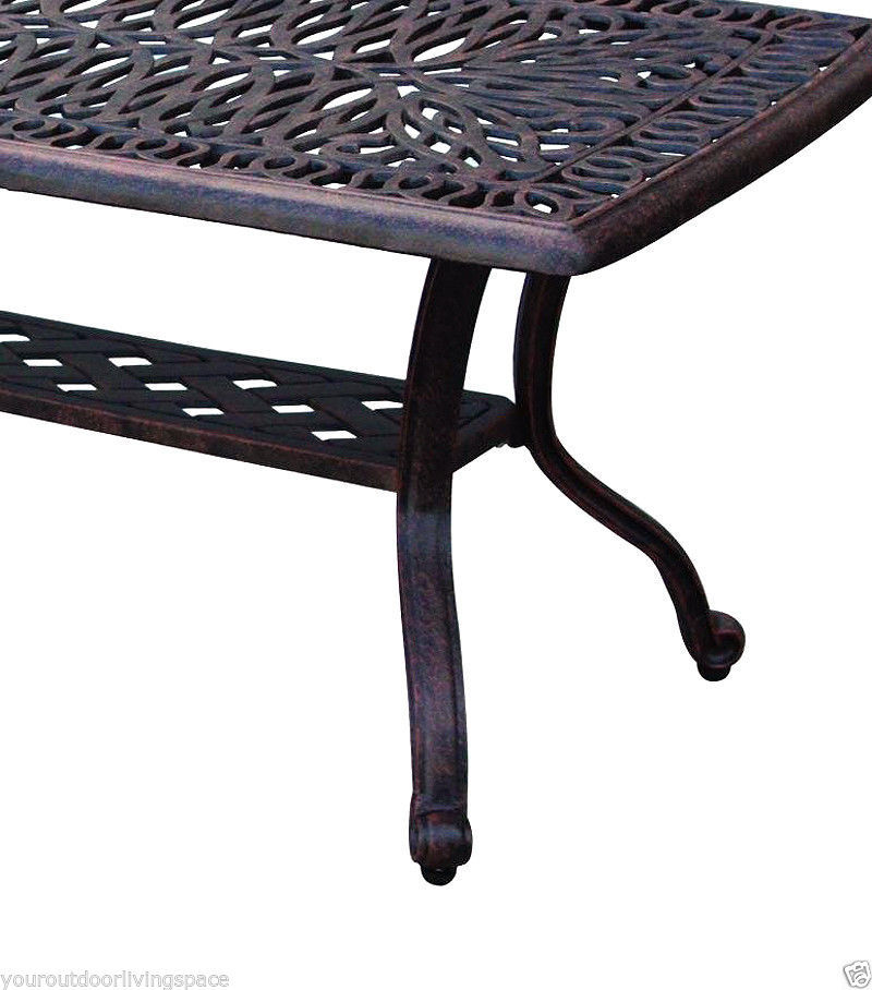 Threshold Cast Aluminum Coffee Table: Patio Coffee Table Elisabeth Outdoor Furniture Cast