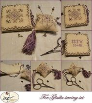 For Giulia Sewing Set cross stitch chart MTV Designs - $15.30