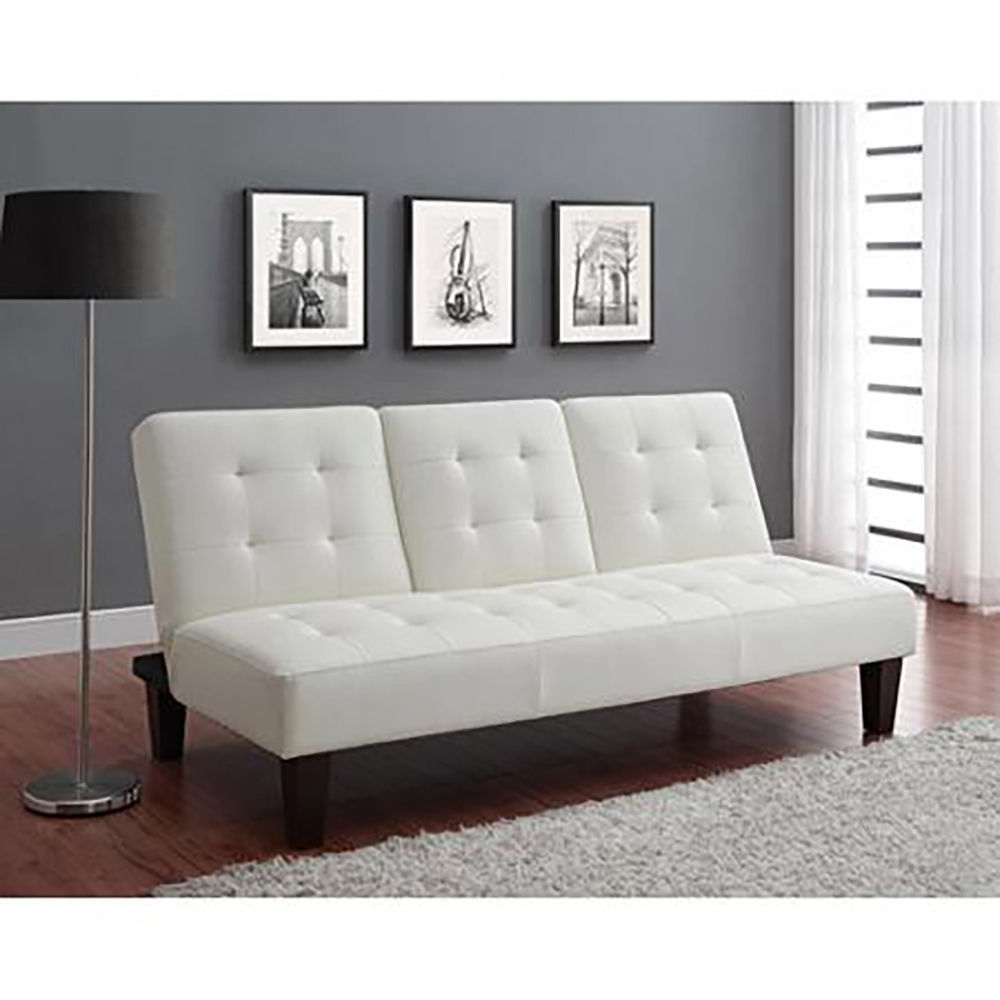 White Leather Sectional Sofa Bed: Luxury Futon With Julia Cupholder Convertible Sofa Bed