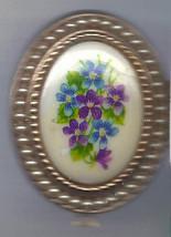 Vintage Jewelry Locket Photo Locket with Floral Print Cabochon AVON Jewelry - $39.99