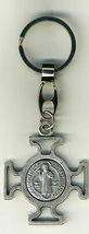 "Key Ring - St. Benedict Medal - 1 1/2"" x 1 1/2"" - L105.0578"